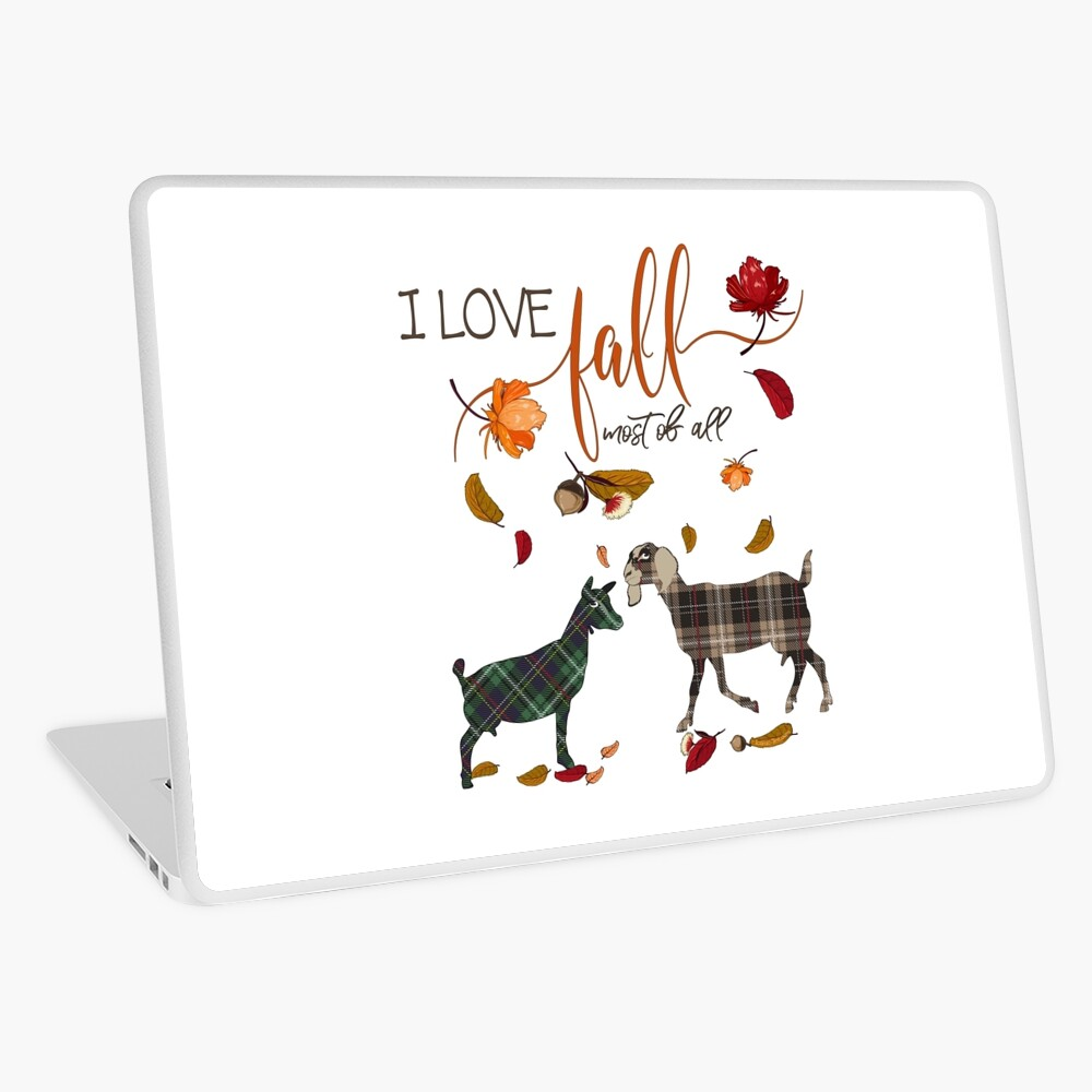 Goat Lovers - I Love Fall Most of All  Laptop Skin
