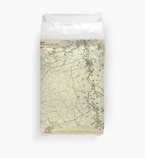 World War II Twelfth Army Group Situation Map October 20 1944 Duvet Cover