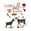 Goat Lovers - I Love Fall Most of All  by IconicTee