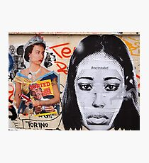 brick lane graffiti incriminated Photographic Print