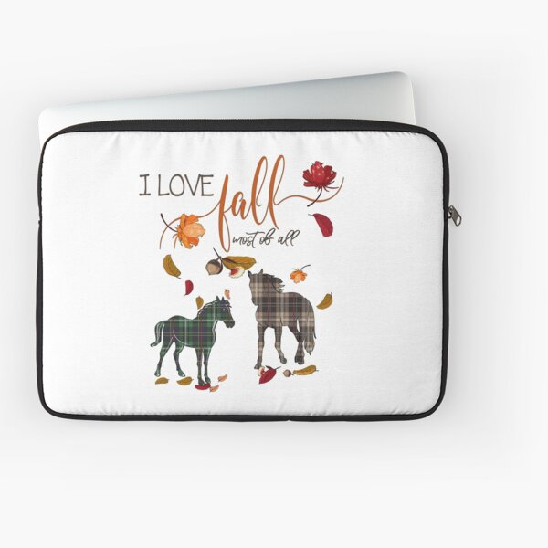 Horse Lovers - I Love Fall Most of All  Laptop Sleeve