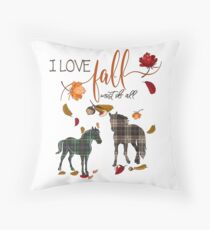 Horse Lovers - I Love Fall Most of All  Floor Pillow