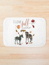 Horse Lovers - I Love Fall Most of All  Bath Mat