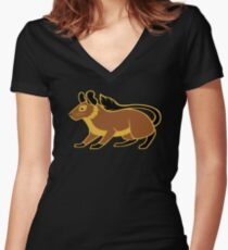 Degu Fitted V-Neck T-Shirt
