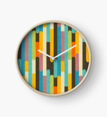 Reloj Retro Color Block Palitos de paleta azul