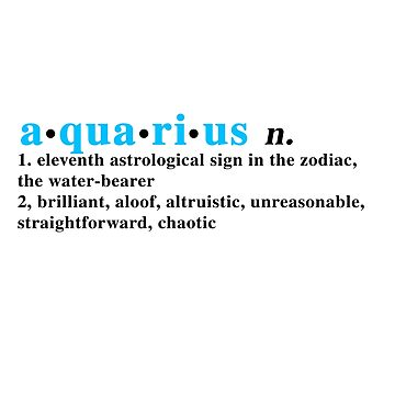 Zodiac Definitions: Aquarius by athee-fille
