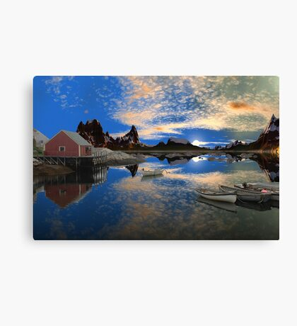 Tranquility Harbor -Twin Suns Canvas Print