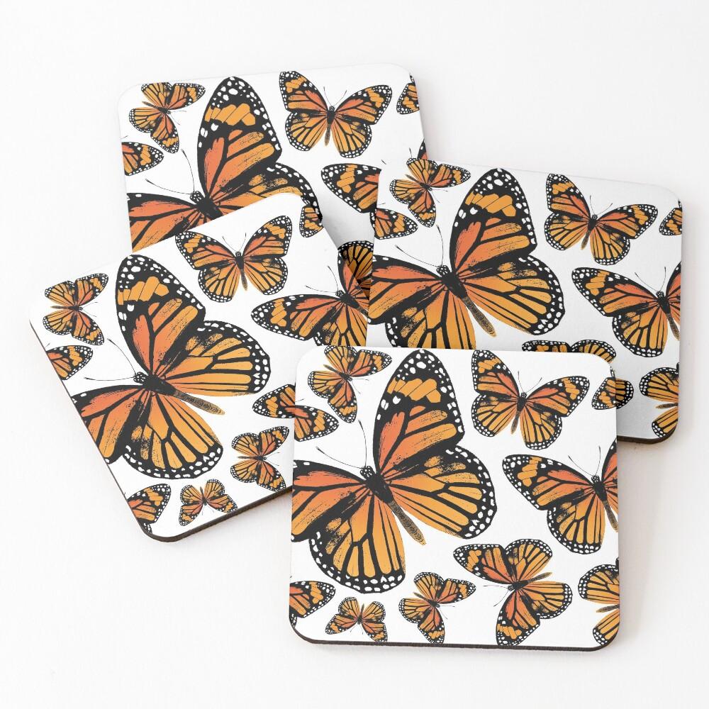Monarch Butterflies   Monarch Butterfly   Vintage Butterflies   Butterfly Patterns    Coasters (Set of 4)