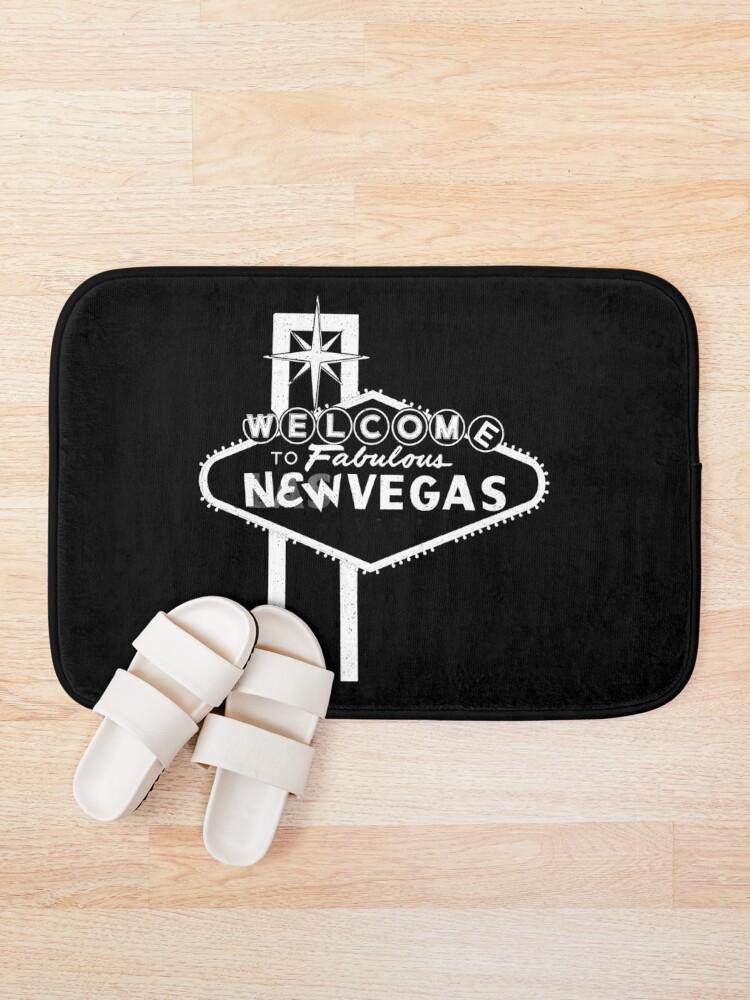Alternate view of Welcome to New Vegas | Fallout New Vegas | White Logo Bath Mat
