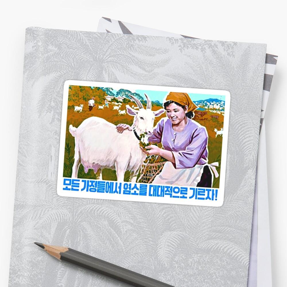 North Korean Propaganda - Goat by Tim Topping