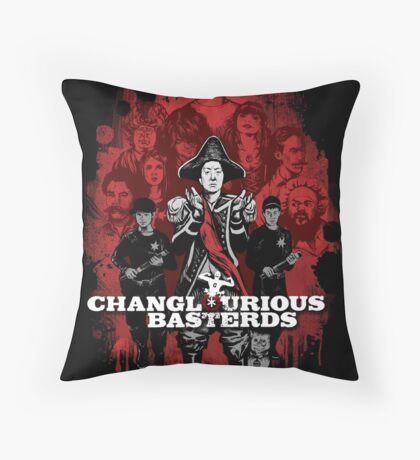Changlourious Basterds (Any Shirt Colour) Throw Pillow