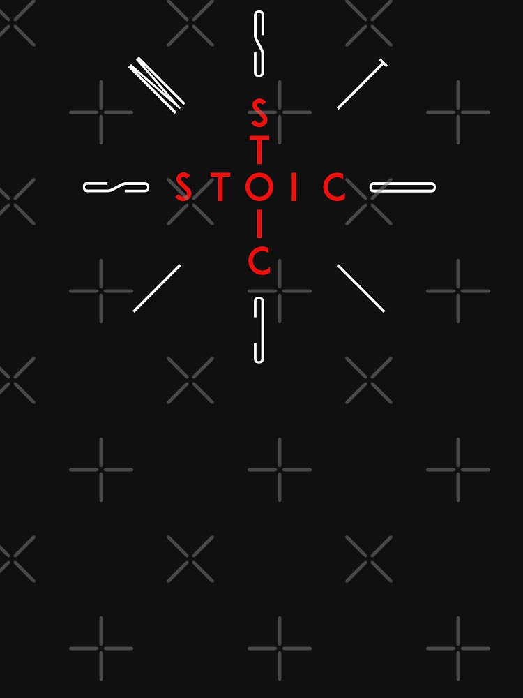 Stoic Word Cross - Stoic and Stoicism Text in a Cross Circle by StoicMagic