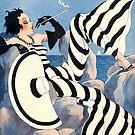 Französische Art Deco Damen Haute Couture Mode von Glimmersmith