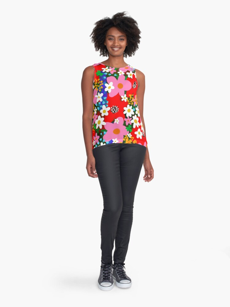 Alternate view of Flower Power! Sleeveless Top