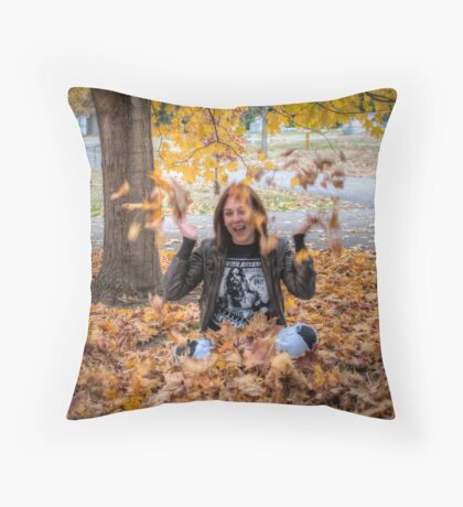 A Kid Again Throw Pillow