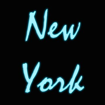 New York neon titles by Sergiolb96