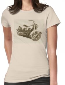 Parchment Panhead Womens Fitted T-Shirt