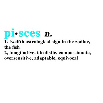 Zodiac Definitions: Pisces by athee-fille