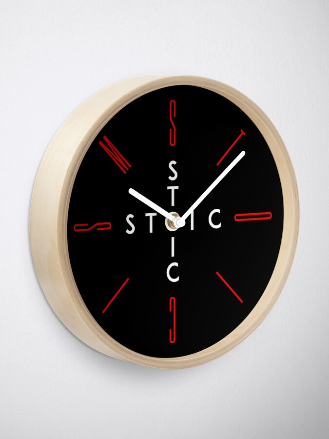 Alternate view of Stoic Word Cross - Stoic and Stoicism Text in a Cross Circle v2 Clock