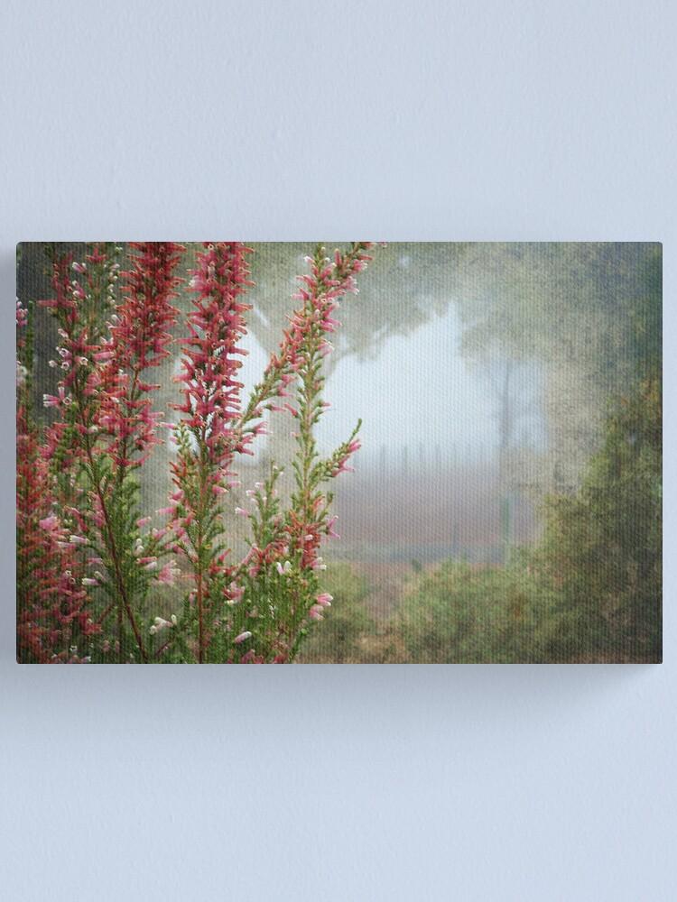 Alternate view of Morning Fog In My Garden (Erica) Canvas Print