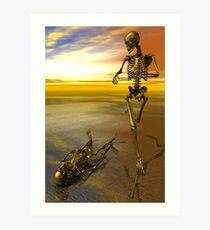 Running Skeleton Art Print