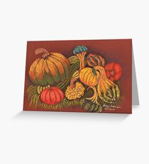 New England Squashes Greeting Card