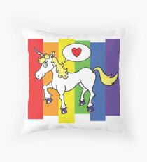 unicorny Throw Pillow