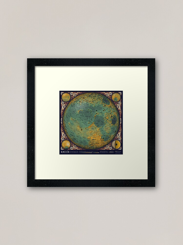 Alternate view of A Topographic Map of the Moon Framed Art Print