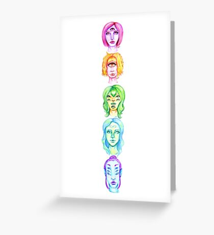 Rainbow of Beautiful Monsters Greeting Card