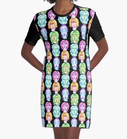Rainbow of Beautiful Monsters Graphic T-Shirt Dress