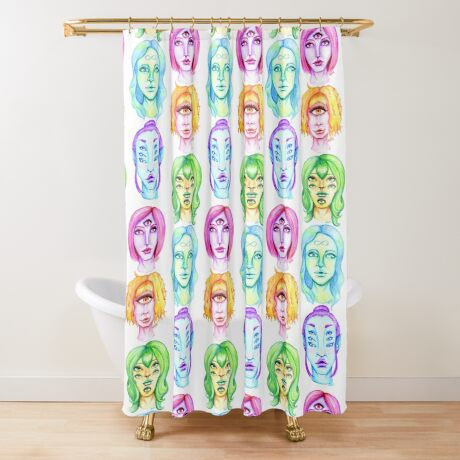 Rainbow of Beautiful Monsters Shower Curtain