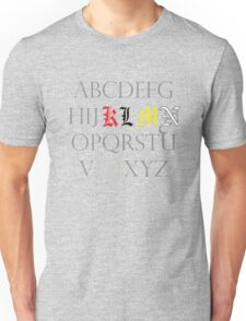 Death Note Alphabet Unisex T-Shirt