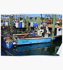 Small Fishing Trawler at Point Judith, RI [11] Poster