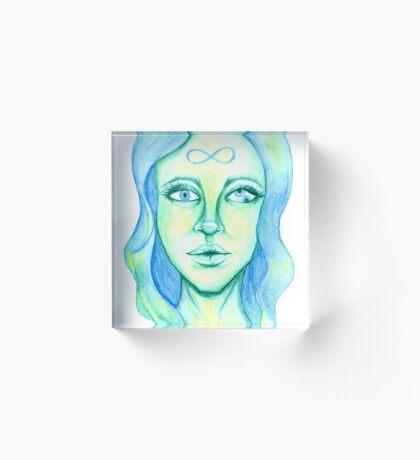 Blue Hair, Green Skin Acrylic Block