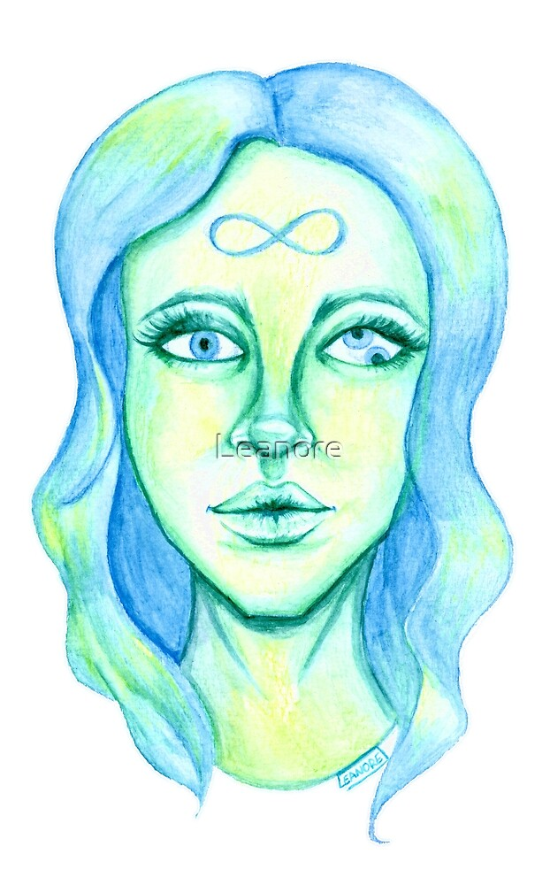 Blue Hair, Green Skin by Leanore