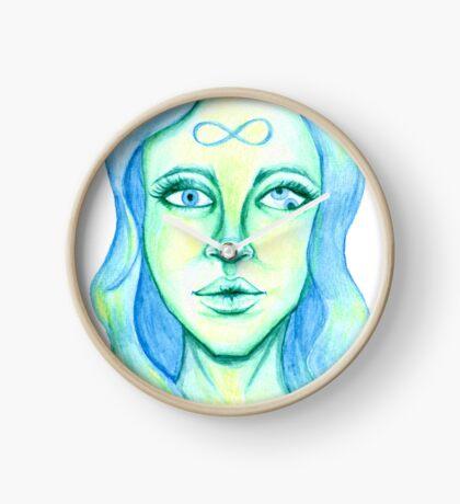Blue Hair, Green Skin Clock