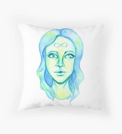 Blue Hair, Green Skin Floor Pillow