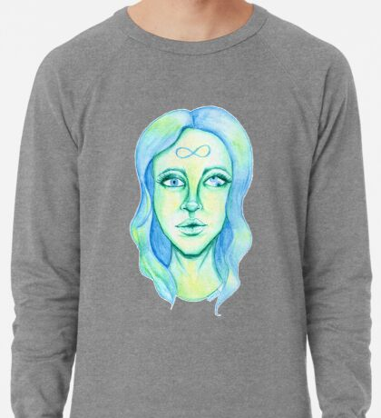 Blue Hair, Green Skin Lightweight Sweatshirt