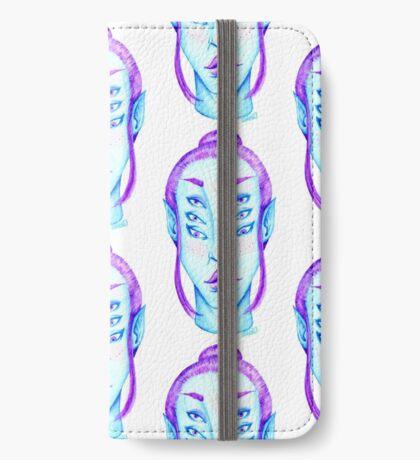Purple Hair, Blue Skin iPhone Wallet