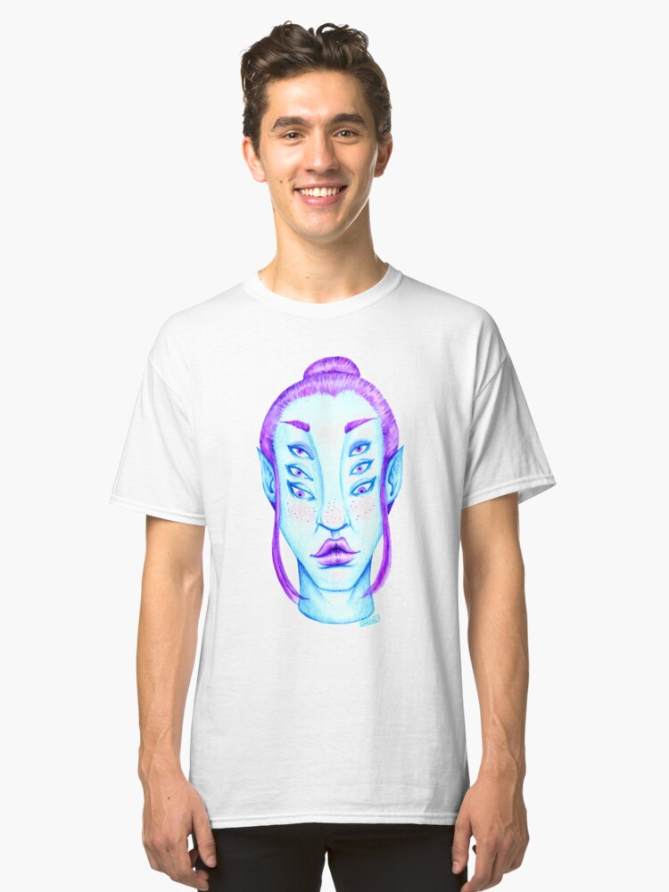 Alternate view of Purple Hair, Blue Skin Classic T-Shirt