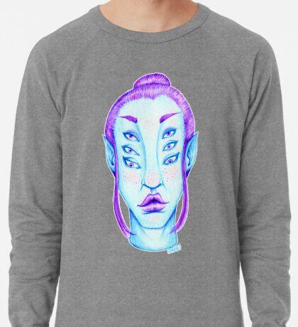 Purple Hair, Blue Skin Lightweight Sweatshirt