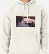 #Water, #Harbor, #River, #Ship, sunset, travel, pier, reflection, outdoors Pullover Hoodie