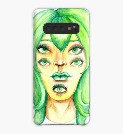 Green Hair, Golden Skin Case/Skin for Samsung Galaxy
