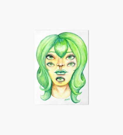 Green Hair, Golden Skin Art Board Print
