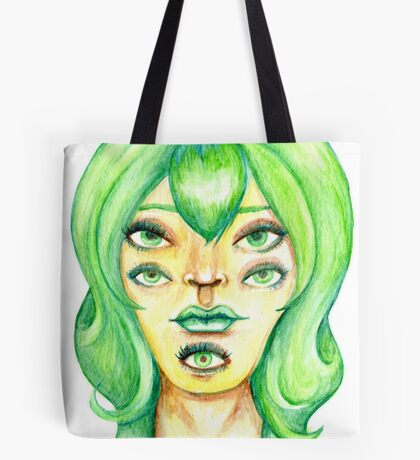Green Hair, Golden Skin Tote Bag