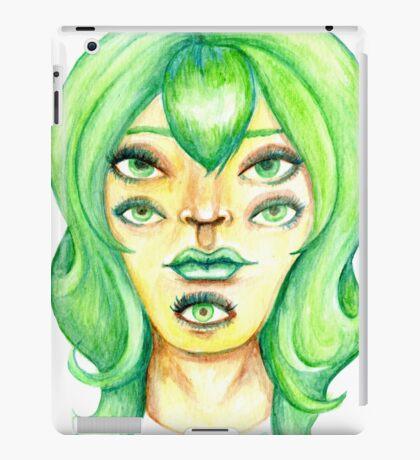 Green Hair, Golden Skin iPad Case/Skin
