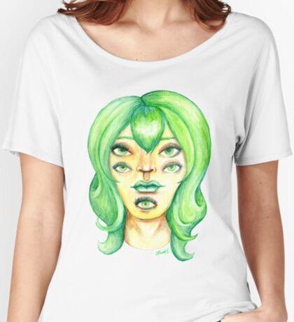 Green Hair, Golden Skin Relaxed Fit T-Shirt