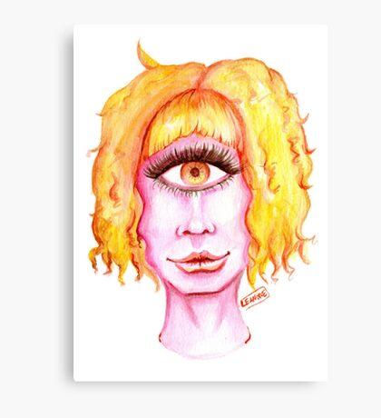 Golden Hair, Pink Skin Canvas Print