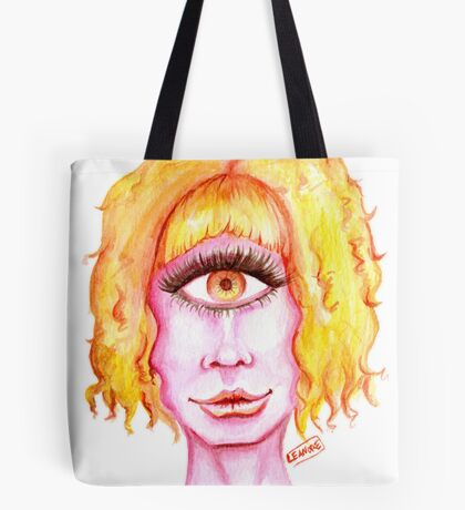 Golden Hair, Pink Skin Tote Bag
