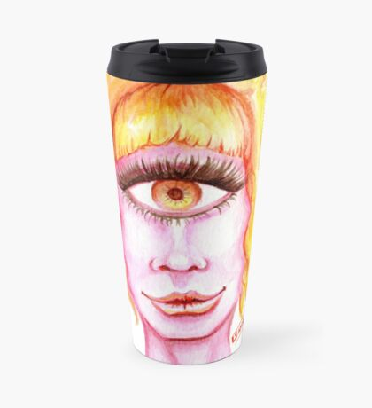 Golden Hair, Pink Skin Travel Mug